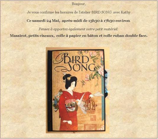 bird song pour blog